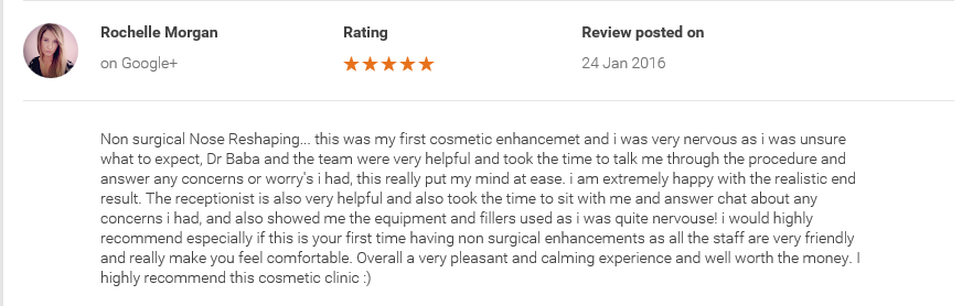 review for nose reshaping